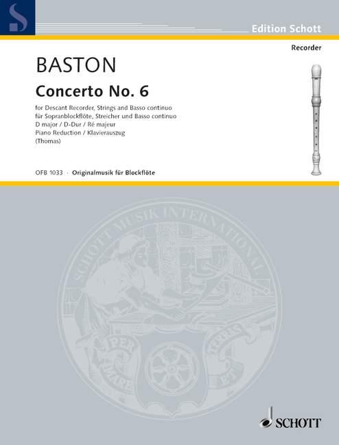 Concerto-No-6-D-major-Baston-John-piano-reduction-with-solo-part-descant-rec